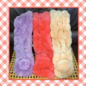 🆕 genuine rabbit fur scarf